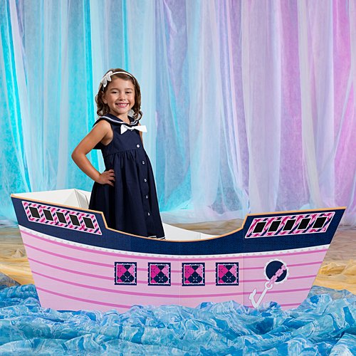 2 ft. Preppy Pirate 3D Ship Standup Photo Booth Prop Background Backdrop Party Decoration Decor Scene Setter Cardboard Cutout