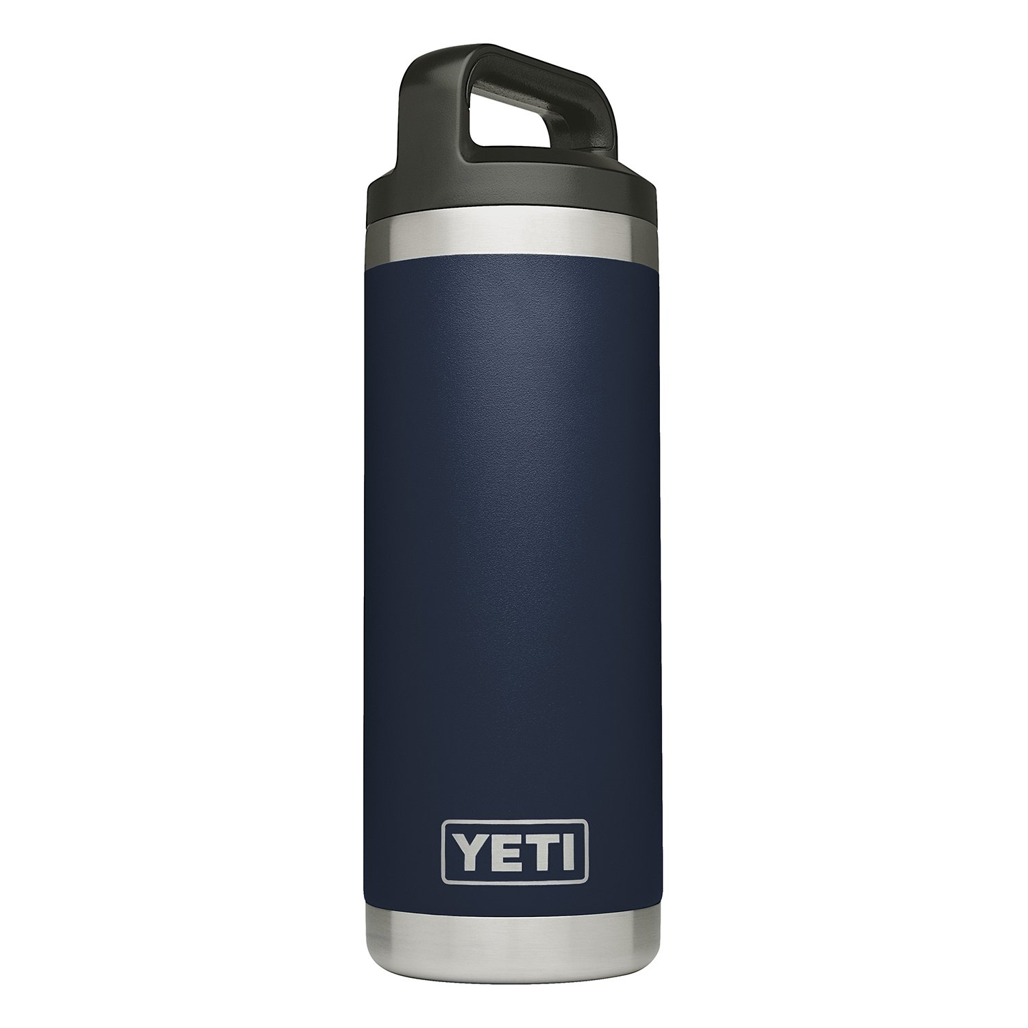 YETI Rambler 18 oz Stainless Steel Vacuum Insulated Bottle with Cap, Navy