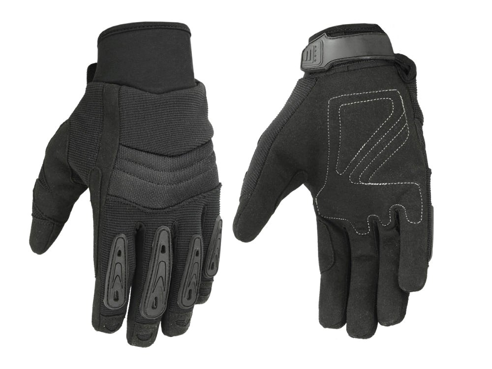 Men's''Air Cooled'' No Sweat Knit Extreme Comfort Riding Glove for Police and Motorcycles (Large)