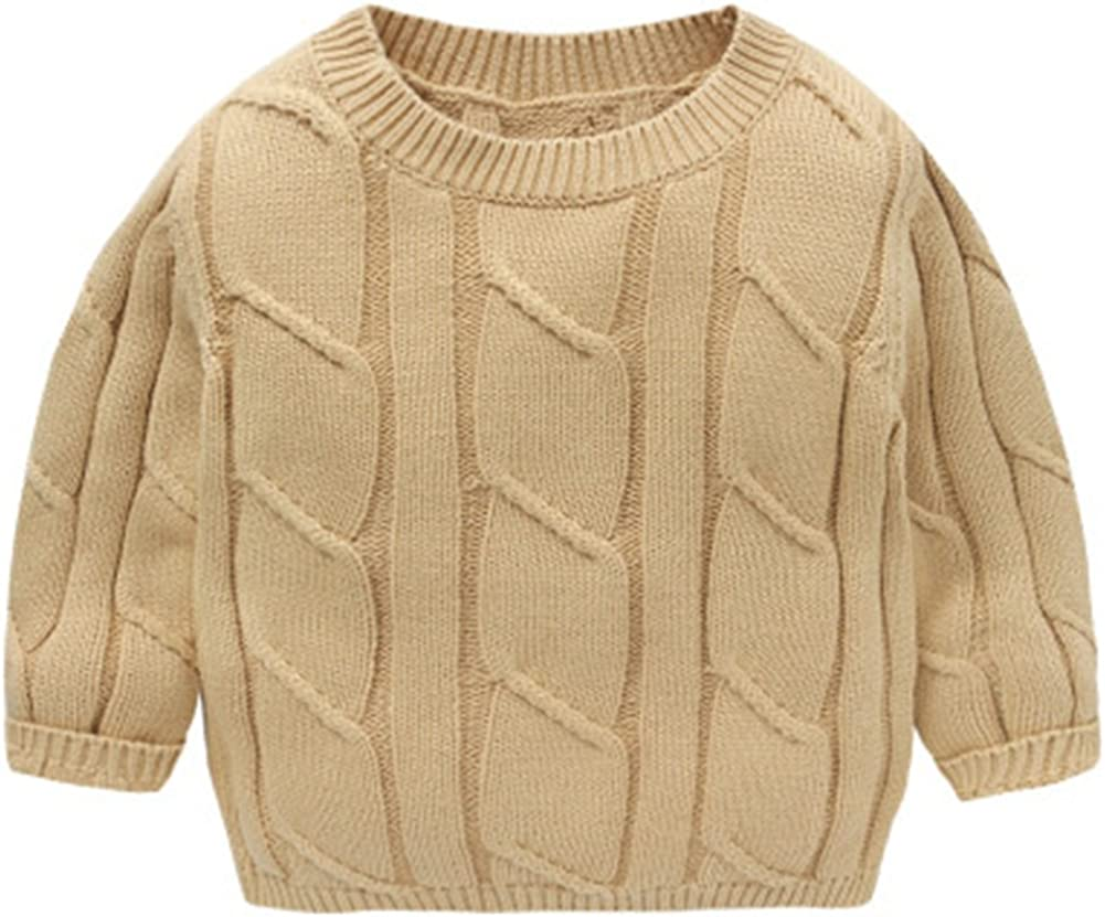 LOSORN ZPY Baby Girl Sweater Cotton Toddler Button-Down Knit Lined Sweatshirt