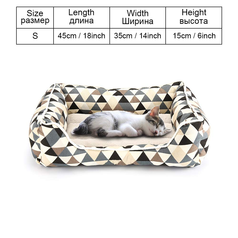COO025-S As pictures COO025-S As pictures Cookisn Dog Bed Sofa Pet Bed Mats for Small Medium Large Dogs Cats Kitten House for Cat Puppy Dog Beds Mat Bench Pet Kennel Pet Products COO025-S
