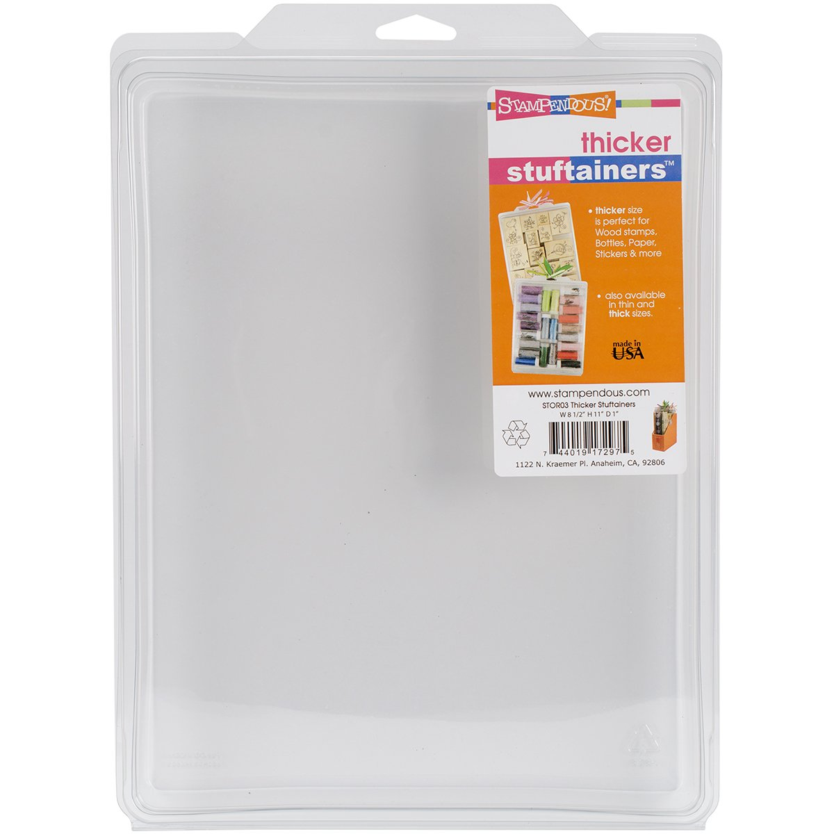 Stampendous STOR03 Thicker Storage Solutions 8-1//2-Inch by 11-Inch by 1-Inch