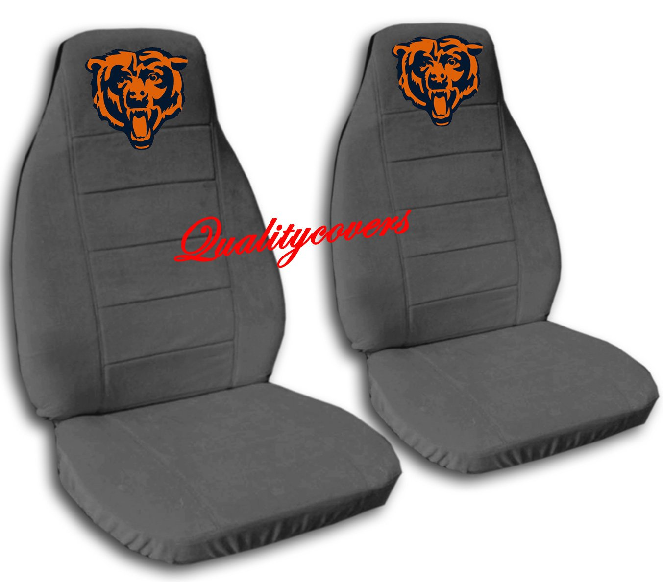 2 Charcoal Chicago seat covers for a 2007 to 2012 Chevrolet Silverado. Side airbag friendly.