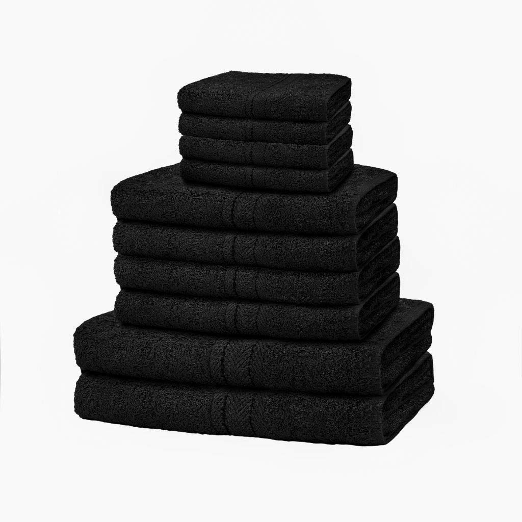 Face /& Bath Towel Bale Towels Sheet Aqua azzoro 10 x pc Set 100/% Egyptian Cotton 650 Gsm Hand