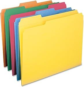 Smead File Folder, Reinforced 1/3-Cut Tab, Letter Size, Assorted Colors, 100 per Box (11993)