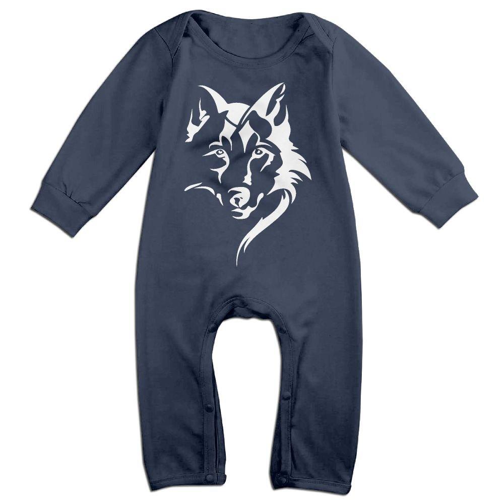 Baby Girl Long Sleeve Jumpsuit Wolf Face Kid Pajamas
