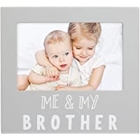 Pearhead Me and My Brother Sentiment Photo Frame, Big Sister or Brother Gift, Sibilng Pictures, Gray