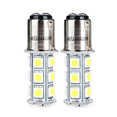 HOTSYSTEM 1157 LED Light Bulbs DC12V BAY15D P21/5W 18-5050SMD for Car RV SUV Camper Trailer Trunk Interior Reversing Backup Tail Turn signal Corner Parking Side Marker Lights(Warm White,Pack of 2): Automotive