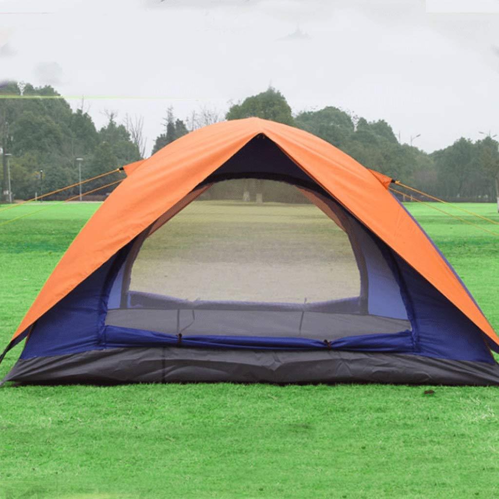 WSGZH Zelt Doppelschicht Outdoor Camping Wasserdichte Sonnencreme Orange Zelt Zelt Bauen Zelt Oxford Wasserdichtes Band Zelt Zelt 7abea1