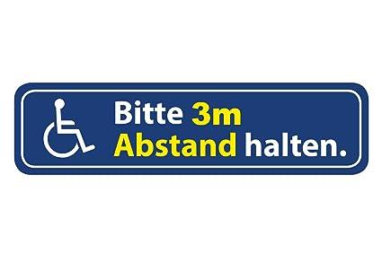 Aufkleber Rollstuhl Bitte 3m Abstand Halten Wetterfest Waschstrassenfest Und Uv Beständig