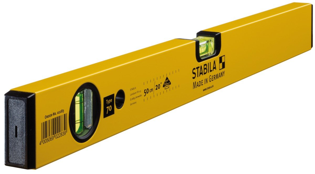 Stabila 2283 Bubble Level 70//50 cm