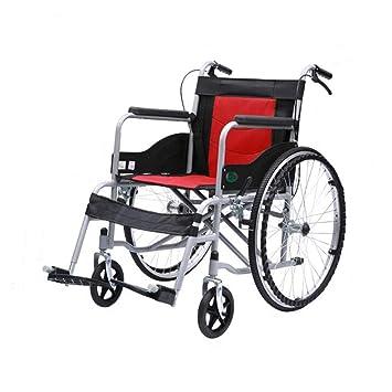 Silla de ruedas Aleación De Aluminio Plegable Ancianos Deshabilitados Viajes Portátil Ultraligera De Propulsión Auxiliar (