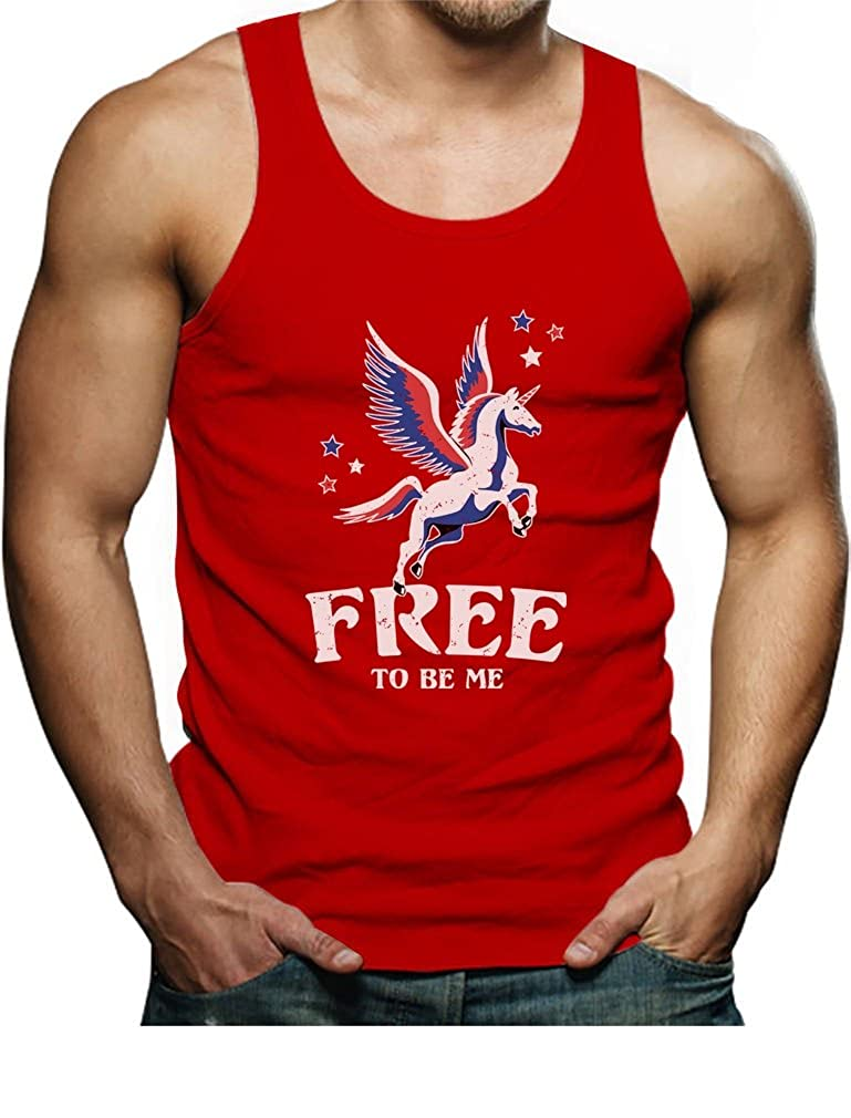 TeeStars 4th of July Free Magical Flying Unicorn Singlet