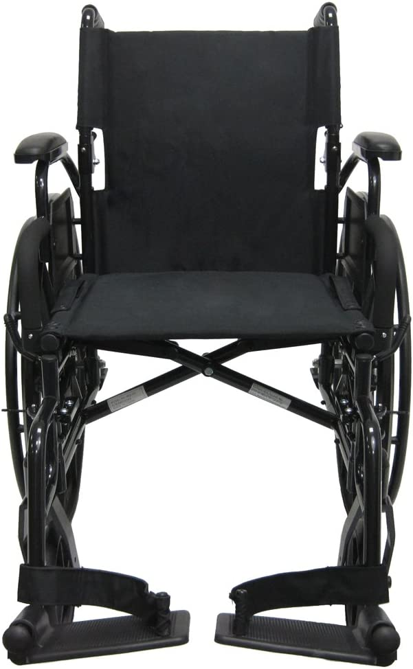 """B006MH5BE0 Karman Healthcare 802N-DY-E Aluminum Lightweight Wheelchair with Flip Back Armrests with Elevating Legrests, Black, 16"""" Seat Width 61tdstlml9L.SL1000_"""