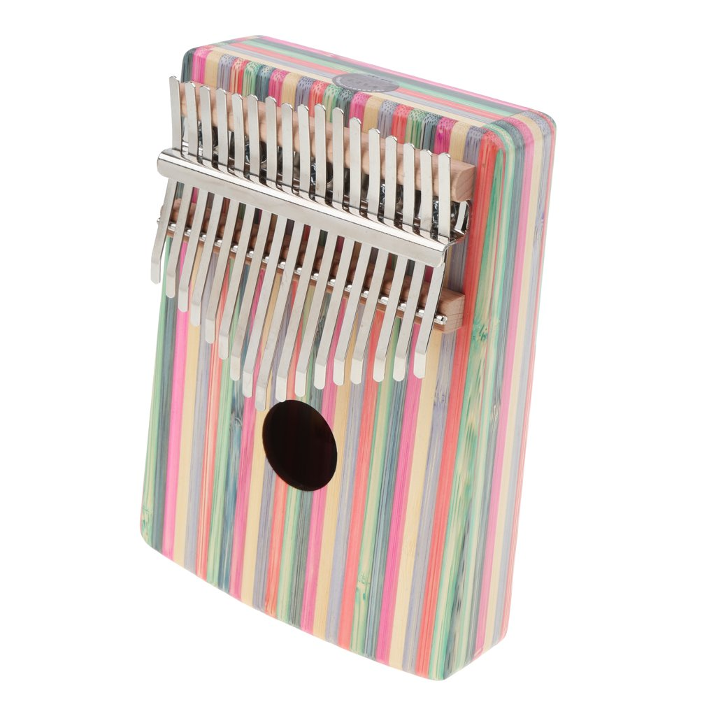 Homyl 1 Set 17 Key Kalimba Mbira Finger Thumb Piano Wood Color Musical Instrument - #2, as described