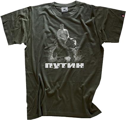 Camiseta con texto en ruso y diseño de Vladimir Putin ...