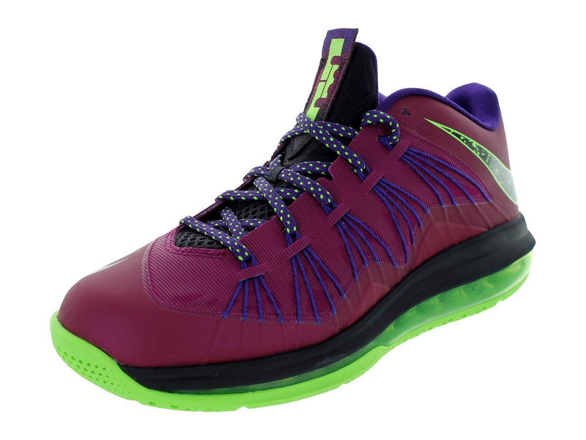 Nike Men's Air Max Lebron X Low Basketball Shoes B00EVYDCVA 10.5 D(M) US Raspberry Red/Blueprint-court Purple-fls - 579765 601