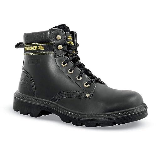 Calzado de Seguridad de Reino Unido 82003 Piel, Color Negro, Negro (Negro)