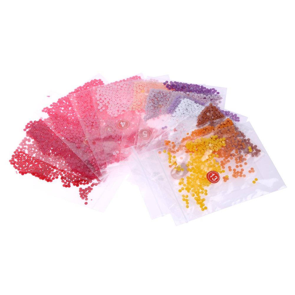 Demiawaking 5D DIY Diamond Painting Craft Kit Pittura da Letto//Parete//Camera da letto//Finestra Decorazione Domestica 40*30cm 10