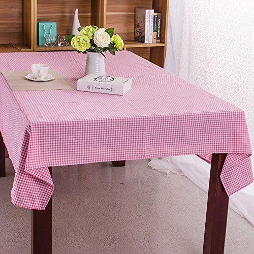 Kitchen Cotton Tablecloth Blue Plaid Korean Japan Style Toalha De Mesa Home/Outdoor/Party Size:6060-140220 Table Cover Table Cloth,pink,140x140 ()