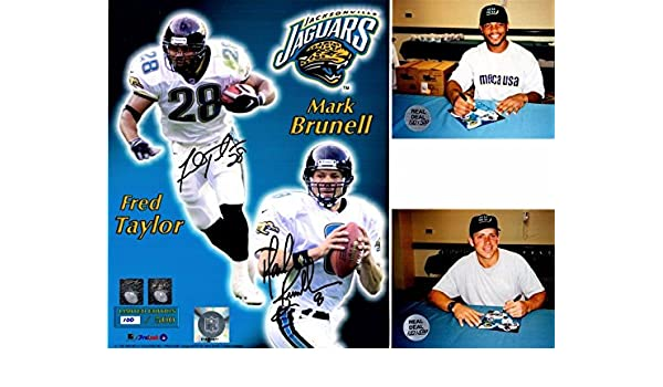 3189e915e5d Fred Taylor and Mark Brunell Signed - Autographed Jacksonville Jaguars JAGS  8x10 inch Photo - Limited 100/500 - Guaranteed to pass or JSA - PSA/DNA ...