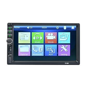 Bluetooth Digital 2Din 7018B MP5 Reproductor MP3 Radio FM estéreo del Coche Audio Música USB en el Tablero de la Ranura de Entrada AUX: Amazon.es: Coche y ...