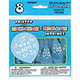 """: 12"""" Latex Blue It's a Boy Baby Shower Balloons, 8ct"""