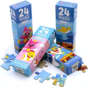 Licensed Baby Shark Puzzle Toy - Set of 4 Pack of 24 Pieces