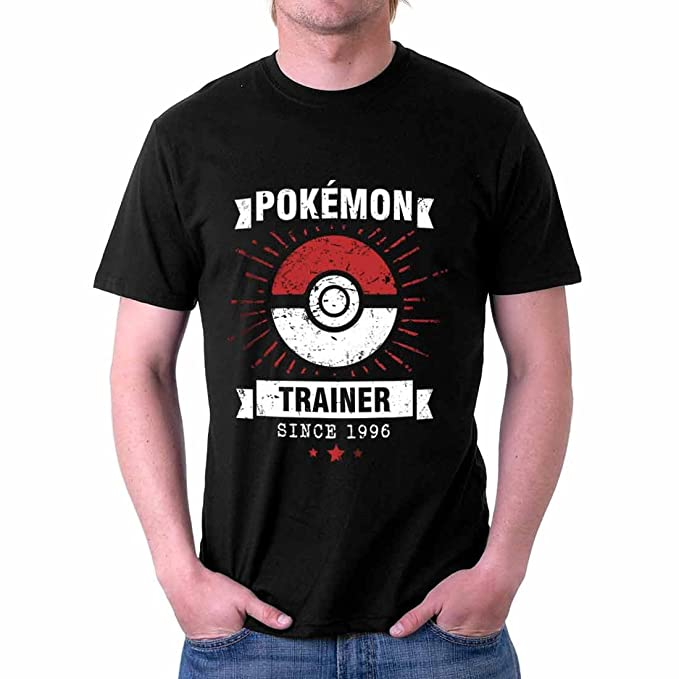 7d97610f The Souled Store Pokemon Trainer (XX-Large) Cartoons Printed Premium Black  Cotton T