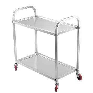 Amazon.Com: Orangea Utility Cart 2 Shelf Utility Cart On Wheels