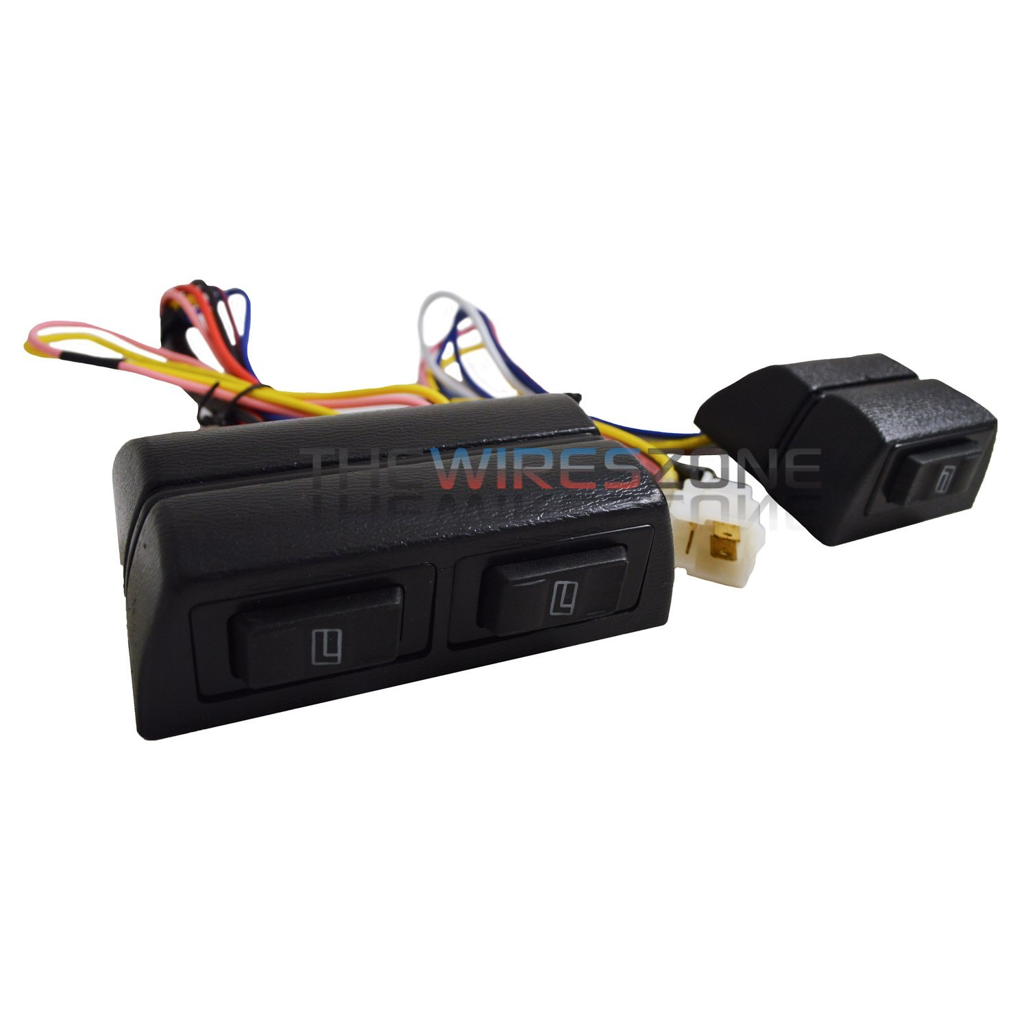 New Universal 12 Volts Power Window Switch Kit w/Wire Harness 12V by The Wires Zone