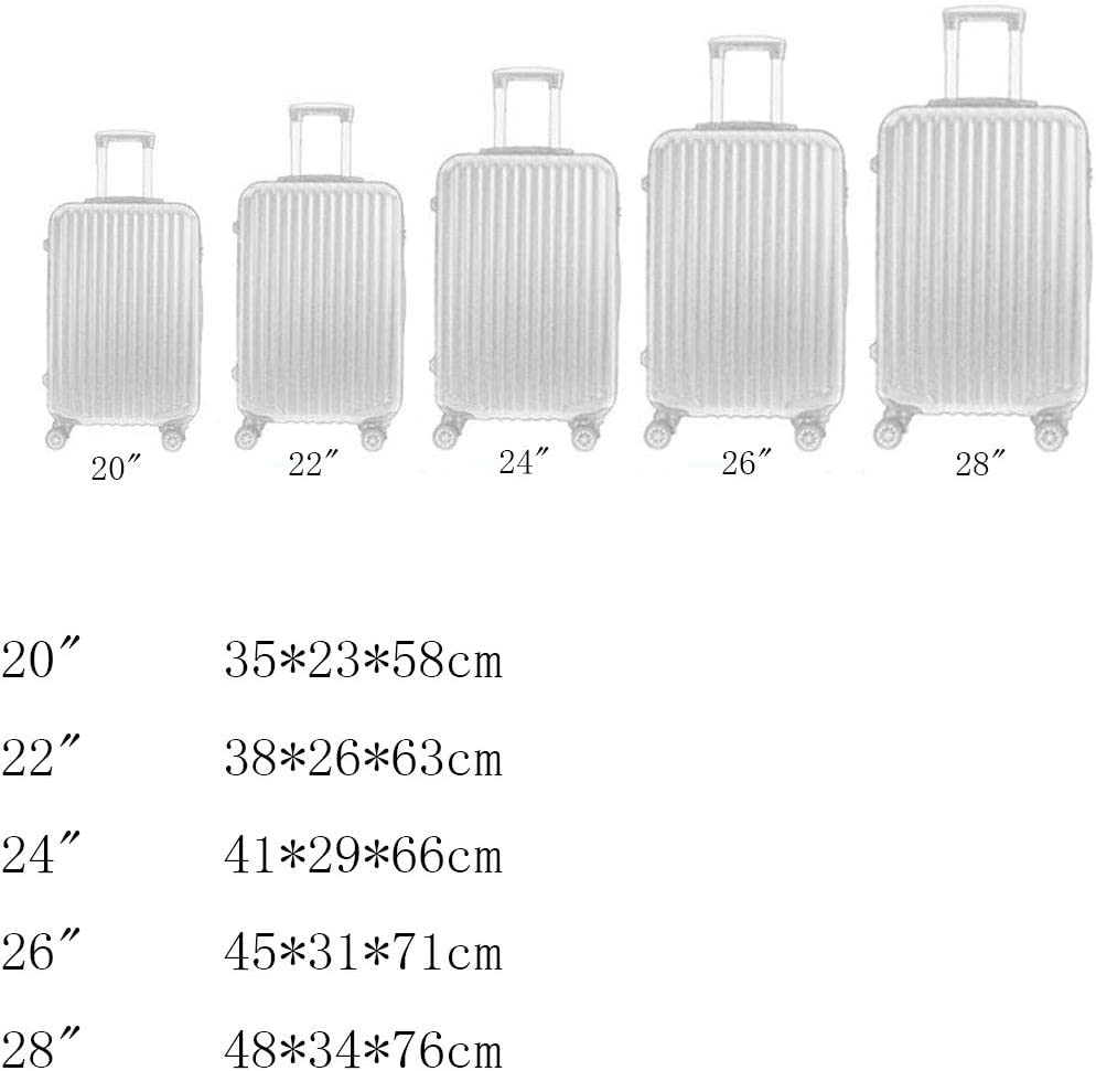Hongsheng Aluminum Frame Trolley Case Personality Youth Type Trolley Case,Black,20