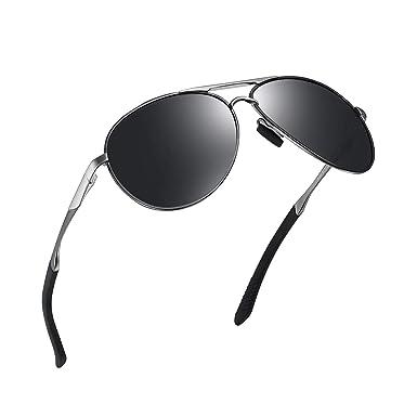 WHCREAT Gafas de Sol Polarizadas Estilo Piloto con Bisagras de Productos Lente de Protección UV400 Para Hombres