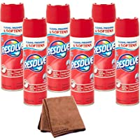 Resolve High Traffic Carpet Foam, 22 oz Can, Cleans Freshens Softens & Removes Stains, 6-Pack with Cleaning Cloth