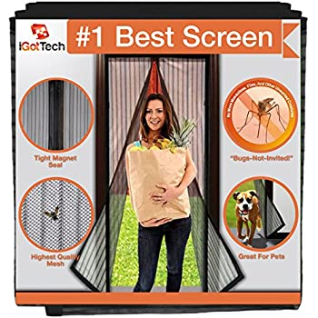 iGotTech Magnetic Screen Door, Full Frame Seal. Fits Door Openings up to 34 x 82-Inch Max