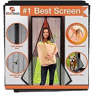 """Magnetic Screen Door, Full Frame Seal. Fits Door Openings up to 34""""x82"""" MAX"""