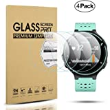 Diruite 4-Pack for Garmin Forerunner 220/225 / 230/235 / 620/630 Tempered Glass Screen Protector [2.5D 9H Hardness] [Anti-Scratch] [Bubble-Free] - Permanent Warranty Replacement