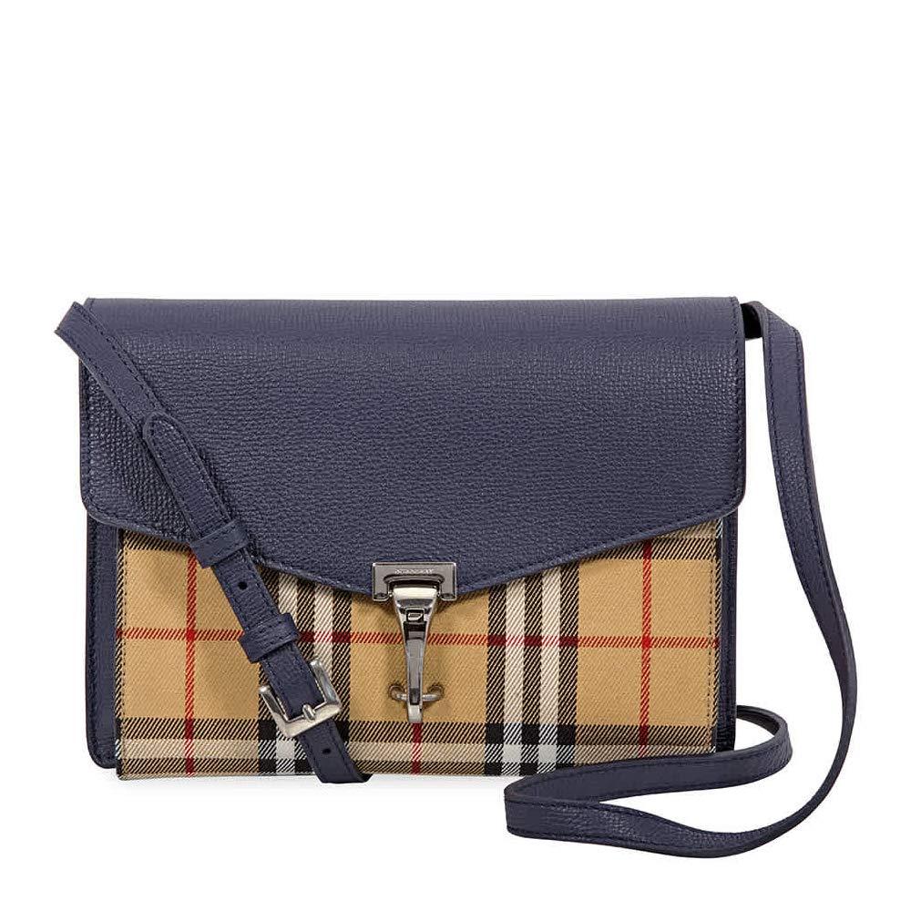 f7c4f19899b Burberry Small Vintage and Check Crossbody Bag- Regency Blue: Handbags:  Amazon.com