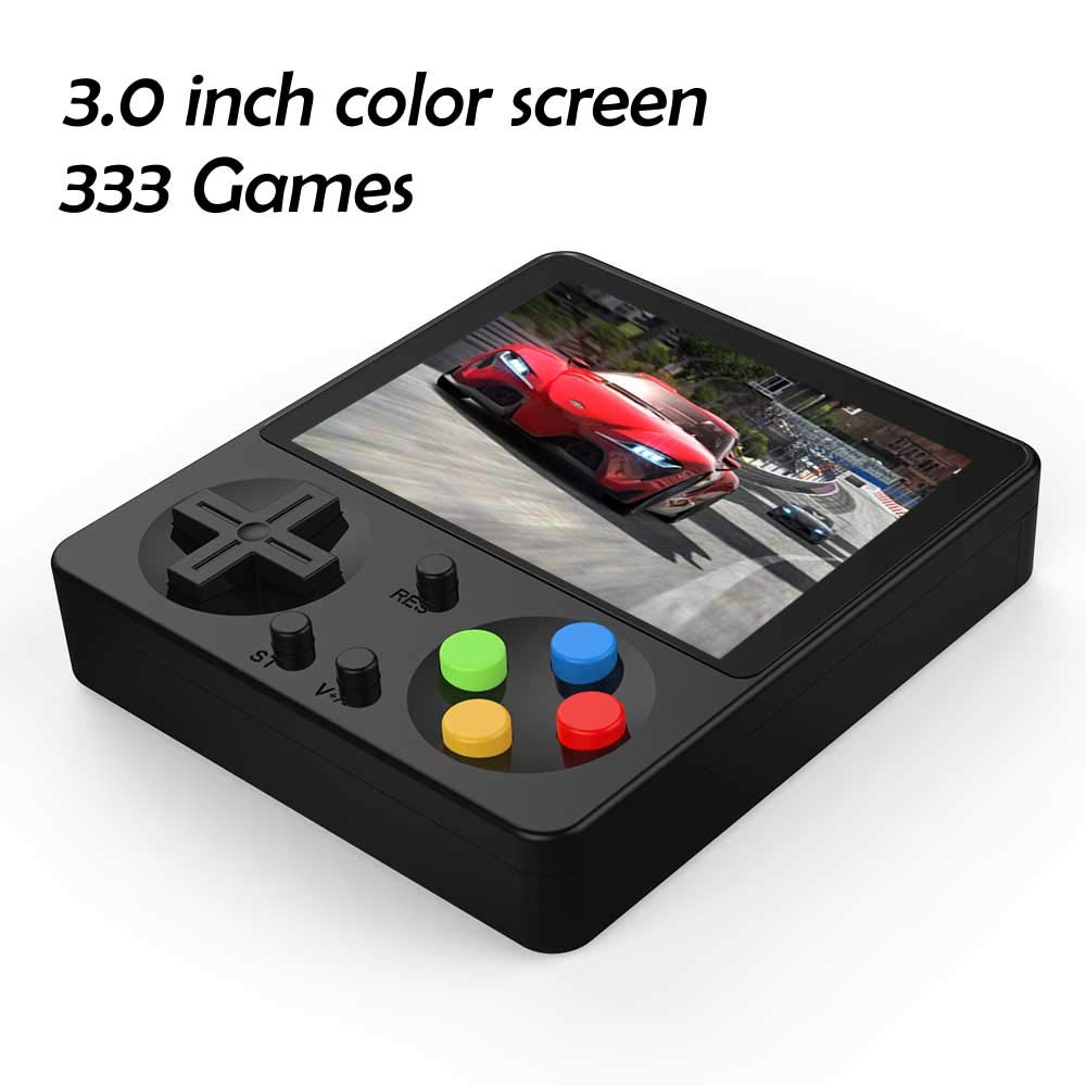 CHAONATECH Handheld Game Console, Portable Video Game 3 Inch HD Screen 333 Classic Games,Retro Game Console Can Play on TV, Good Gifts for Kids to Adult (Black)
