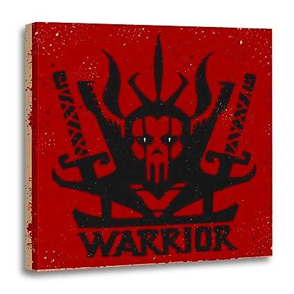 Amazon.com: Semtomn Canvas Wall Art Print Ninja Demon ...