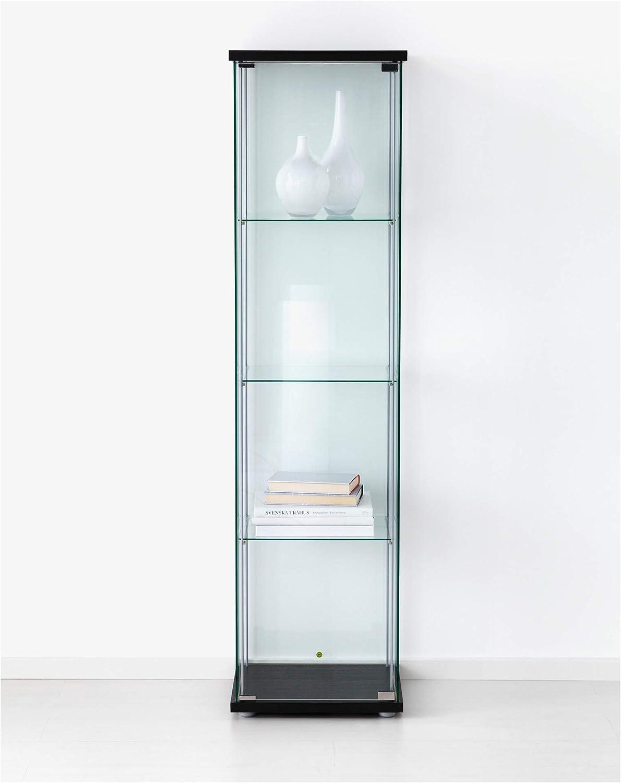 Amazon Com Ikea Glass Door Cabinet Black Brown Furniture Decor