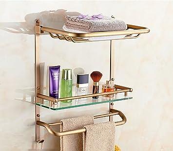 Badezimmer Regal Badezimmer-Regal-Kupfer-Badezimmer-Korb-Korb-Glas ...
