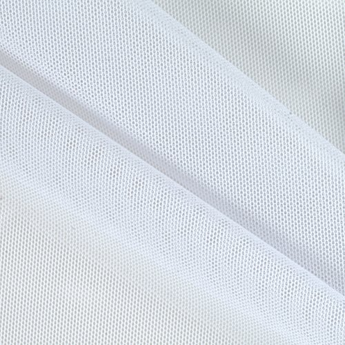 Ben Textiles Power Mesh White Fabric By The Yard (Air Mesh Fabric)