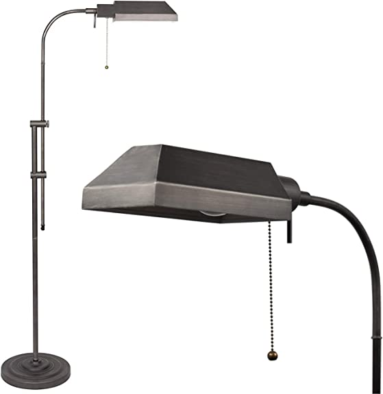 "Kira Home Prescott 58"" Adjustable Standing Pharmacy Floor Lamp"