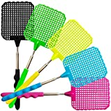 YoYa Pet Fly Swatter 5 Pack Plastic Stainless Steel Extendable Strong Flexible Durable Durable Telescopic Handle: more info