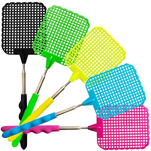 Pest Control Flyswatter Indoor//Outdoor 2 Pack PIC Bug /& Fly Swatter Extra Long Handle Fly Swatters