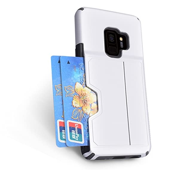 brand new b47e7 cb986 Amazon.com: For Samsung Galaxy S9 Plus Case with Wallet Case- Card ...