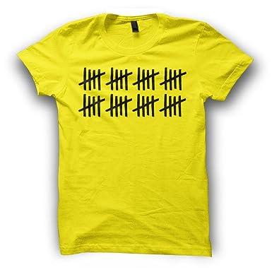 56efed74 40th Birthday Mens T-Shirt (X-Large, Yellow): Amazon.co.uk: Clothing