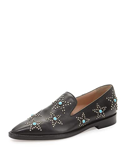 fa259ce9cb4 Image Unavailable. Image not available for. Color  Valentino Garavani Star  Cabochon Leather Loafer ...