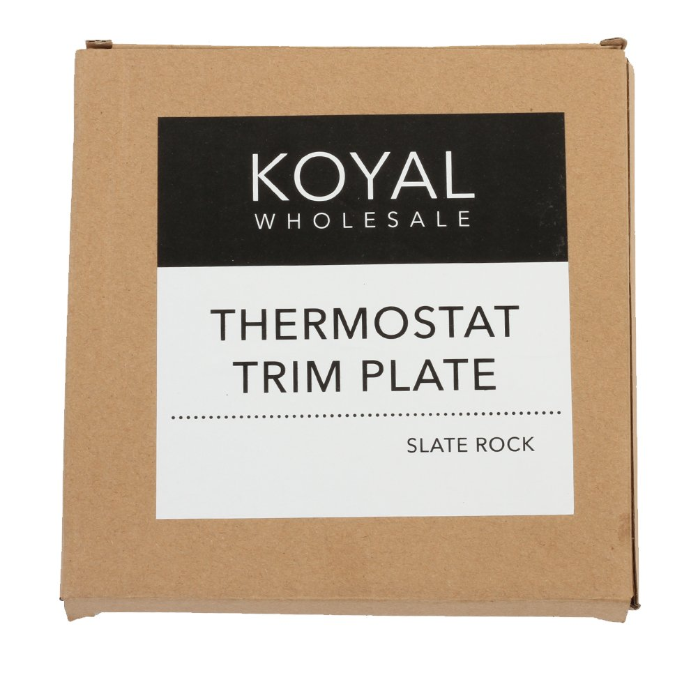 Koyal Wholesale Thermostat Trim Plate for Nest, Wall Plate (Rectangle 6'' x 4.33'', Slate Rock) by Koyal Wholesale (Image #5)